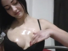 Oiled hand job