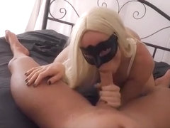Crazy exclusive stockings, blonde, blowjob adult movie
