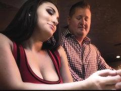 Sexy girls stufing their boobs in their bra
