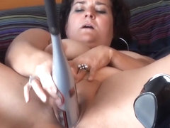 Playful BBW Jenny is much into baseball