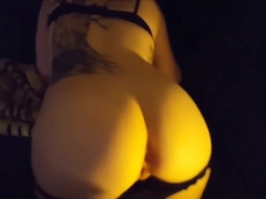 Hot tattooed babe assfucked - POV