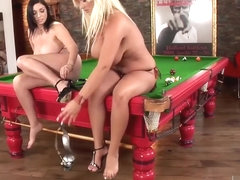 Hardcore Fucking On A Pool Table