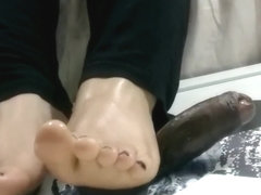 Sexy feet and cock trampling | CBT