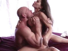 Deep throating a penis