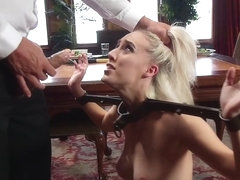 Blonde step sisters sucking masters cock