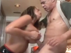 Big Titted Honey Humiliates And Smothers An Older Dude