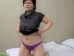 OldNanny Old mature woman makes striptease