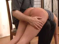 Russian wife spanking ass botle