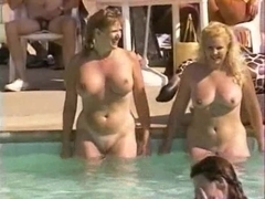 Wife shows tits at pool party