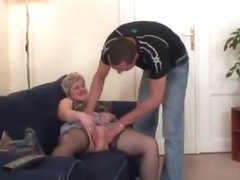 Old Bitch Takes Two Cocks After Masturbation mature mature porn granny old cumshots cumshot